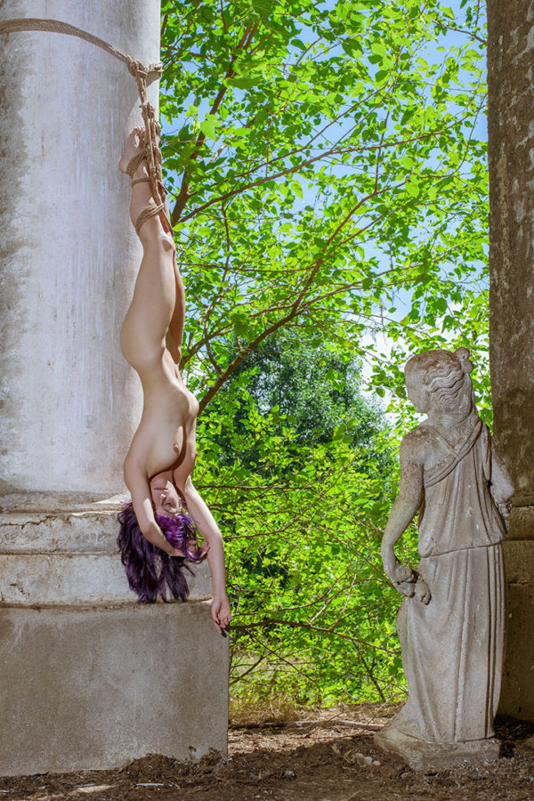 shibari-at-the-mossy-staue-2017 shibari bondage corde rope fine art