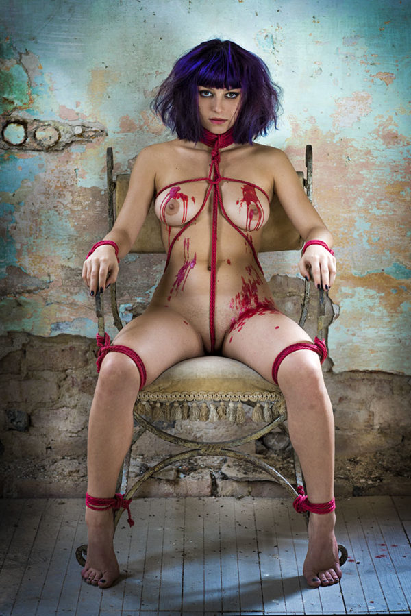 shibari-the-hot-wax-2-2017 shibari bondage corde rope fine art