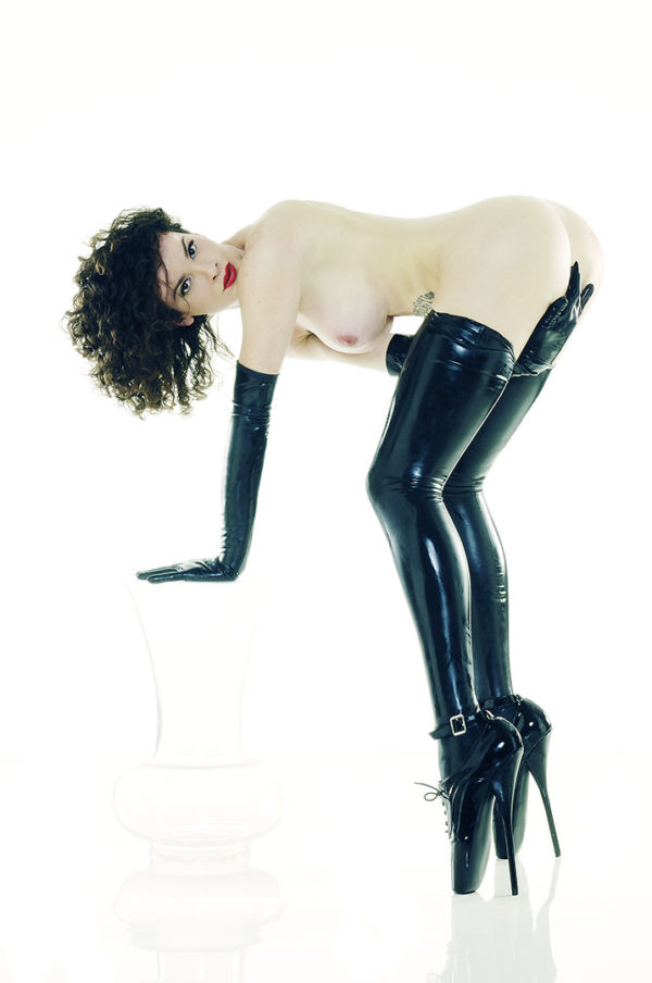 fine art fetish black latex bdsm boot high heels