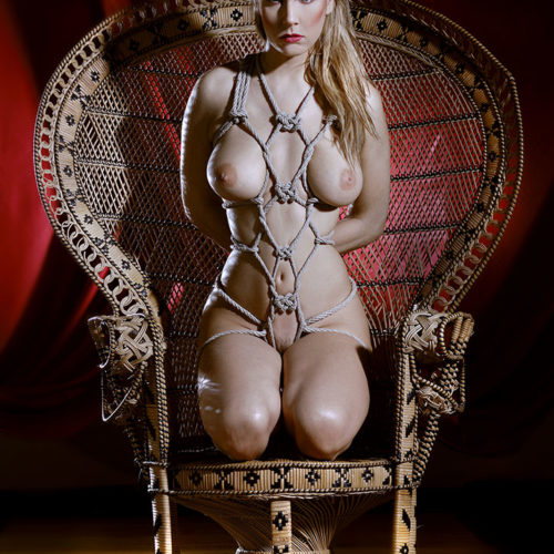 shibari bondage fetish rope corde chair
